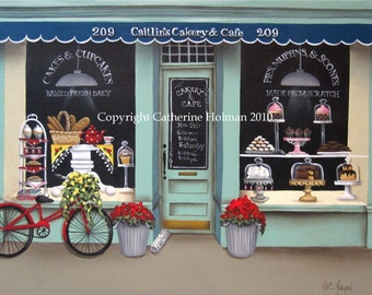 Folk Art print Caitlin's Cakery and Cafe