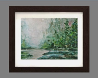 In the Forest- Original Watercolor Painting- GREAT GIFT 8x10