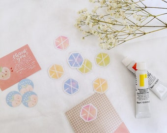 exo watercolor stickers