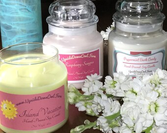 Romantic / 16 oz. / soy candle / multiple wicks / choose your own scent/Under 15