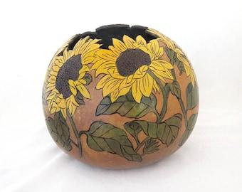 Sunflower Garden Gourd Bowl (1720)