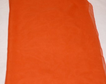 Orange Sheer Rayon Scarf