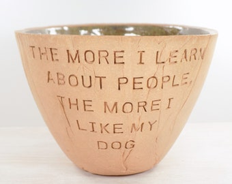 Mark Twain Pottery Bowl Go To Heaven For The Climate Go