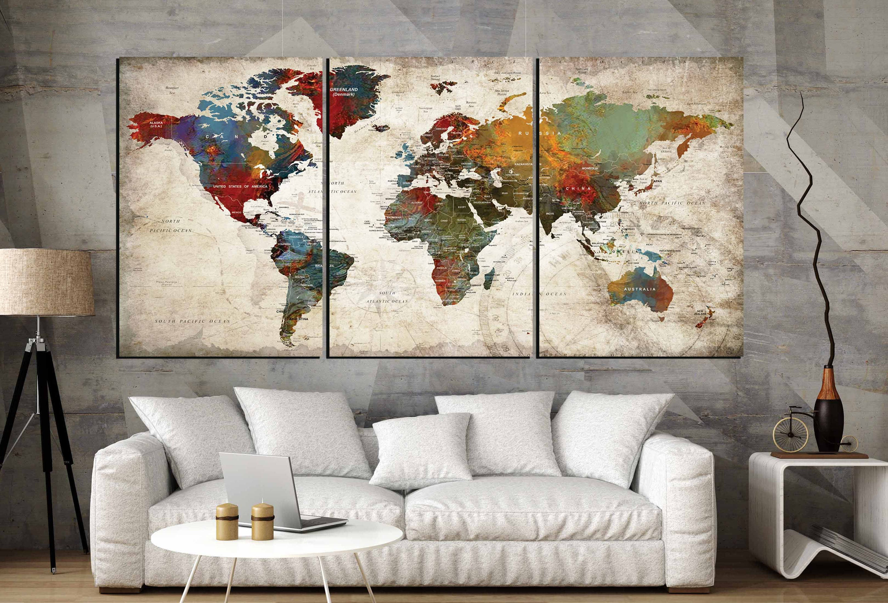 World map wall art 3 panel canvas artworld map large canvas panels world map wall art 3 panel canvas artworld map large canvas panelsworld map artworld map canvasworld map abstract artworld map push pin gumiabroncs Images