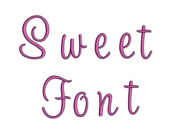 Sweet Satin Script Digitized Machine Embroidery Font Upper and Lower Case -Instant Download-1,2,3 inches