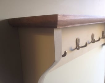 Coat rack, Rustic, country cottage, Shabby Chic with shelf