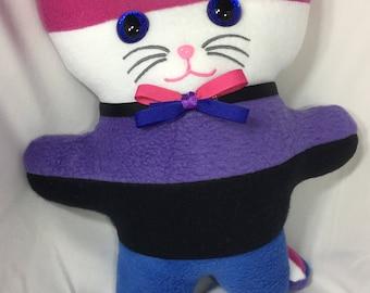 Gender Fluid Pride Flag Kitty Plushie