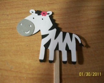 Zebra cupcake toppers -set of 24