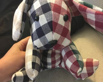 Gingham Stuffed Dogs