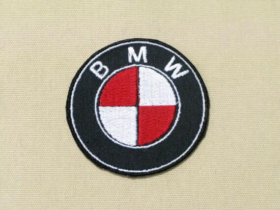 Bmw Logo Emblem Ensignia Custom Colors Red White On Black
