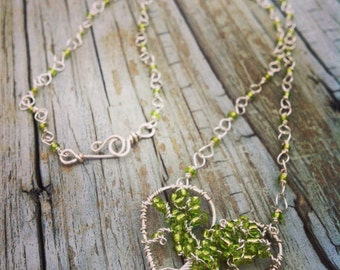 Tree heart necklace