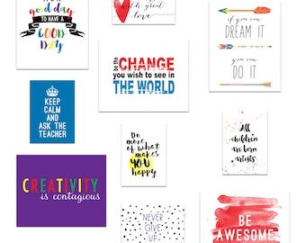 Classroom Decor, Kid's Wall Art, Inspirational Art Quotes, Teacher Art - Play Room Art Prints - Instant Download