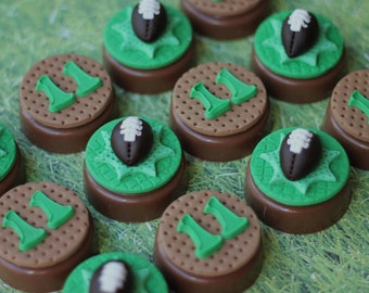 Fondant Toppers Football-Themed - Perfect for Cupcakes, Cookies and Other Creations - Football Party
