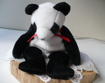 Bear, Soft Kids Toy, Beanie Babies, Panda Bear, Stuffed Animal, Plushie, Teddy Bear, Baby Shower Gift, Jungle Nursery Decor, Safari Decor