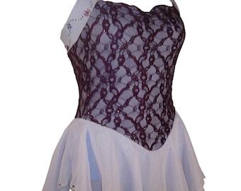 Fantasy Plum and Baby Blue Skating Dress