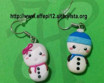 Snowmen earrings