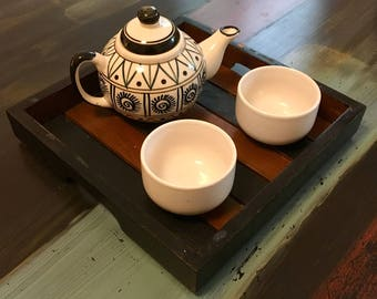 Wooden Tray, Square Tray, Solid Tea Tray, Breakfast Tray