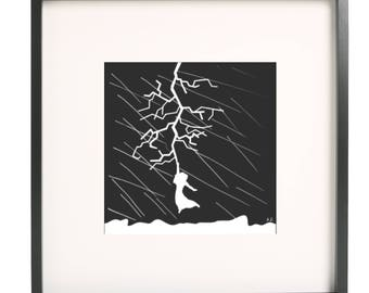 There is a crack in everything Print Ink Painting Print Abstract Art Print Wall Art Living Room Decor Wall Decor Unframed
