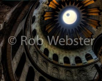 Church of the Holy Sepulchre 14, Jerusalem, 8x10 Fine Art HDR Israel Photo