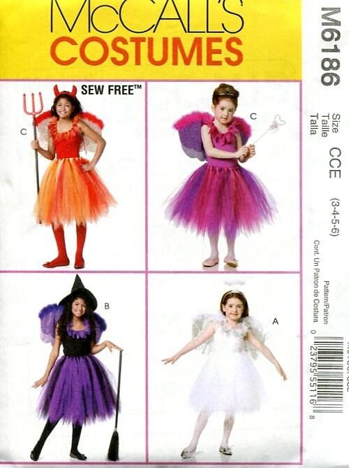 FREE US SHIP Sewing Pattern McCall\'s 6186 Girls Tutu Dress Dance ...