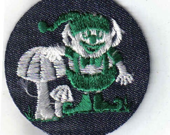 Kobold Pilz seltenen Sammlerstück Vintage Sewing Patch Applique