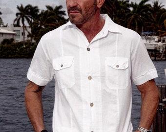 PLUS Organic Woven Cotton 2 Pockets HANSEN Wood Buttoned Mens Shirt