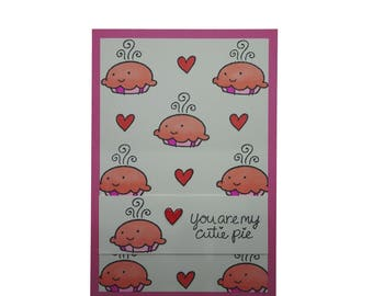 Kitsch Handmade Romantic Card, You are my cutie pie, Cute Valentine Card, Valentine's Day Card, Lawn Fawn, Cute Pies,