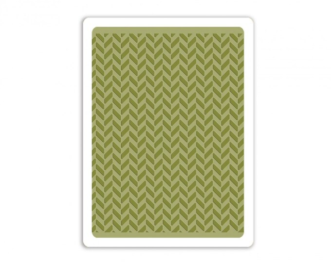 New! Sizzix Tim Holtz Texture Fades Embossing Folder - Herringbone