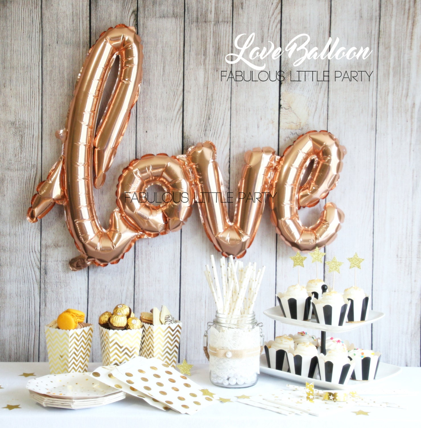 Bridal Shower Decorations, Love Balloon Wedding Photo Props, Dessert ...