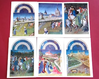 Brothers Limburg - Set of 16 Vintage Postcards - Moscow, 1975