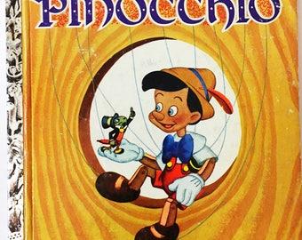 Pinocchio Book.  Grant, Campbell.  Little Golden Book.  Walt Disney.  Vintage children's book circa 1948, A Edition.