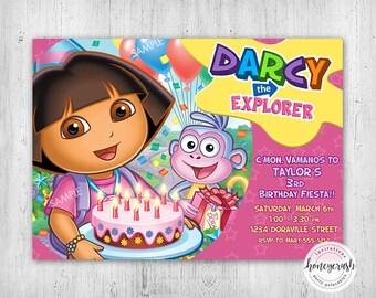 Dora Birthday Invitation - Printable Digital File