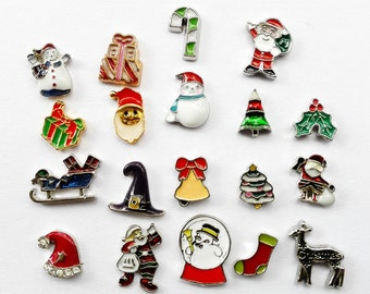 Origami owl charms etsy studio 5pcsset christmas floating charm for living lockets christmas charms for origami owl locket wholesale floating lockets charms t0101 aloadofball Image collections