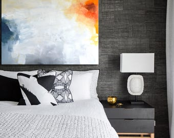 Abstract Painting, White painting, black and white painting, white abstract painting, Large Original Painting, Neutral colors painting