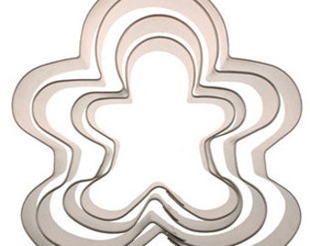 Christmas Holiday Gingerbread (Wilton) Cookie Cutter Set 4pc.