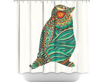 Ethnic Penguin Artistic Shower Curtain for your home decor