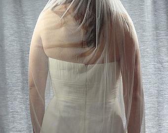 French Silk Tulle Veil, Soft 100% Silk Wedding Veil, Soft Bridal Veil