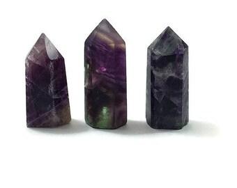 Fluorite Crystal Point- Rainbow Fluorite Point- Crystal Obelisk- Purple Fluorite Tower- Healing Crystal -Crystal Tower- Small Crystal Wand