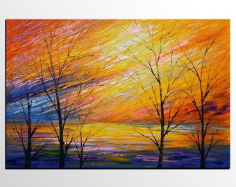 Canvas Oil Painting, Abstract Painting, Original Art, Abstract Art, Canvas Art, Large Art, Wall Art, Abstract Art, Landscape Painting