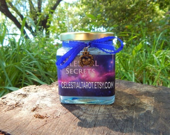 ZODIAC SELECTION Ritual Jar Candle, Prayer candle - 100% Hand-crafted with soy wax, herbs and essential oils