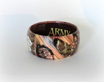 Army of Darkness comic bracelet, horror art, comic art jewelry, geek girl