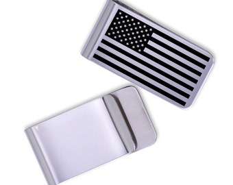 American Flag Money Clip/Laser Marked