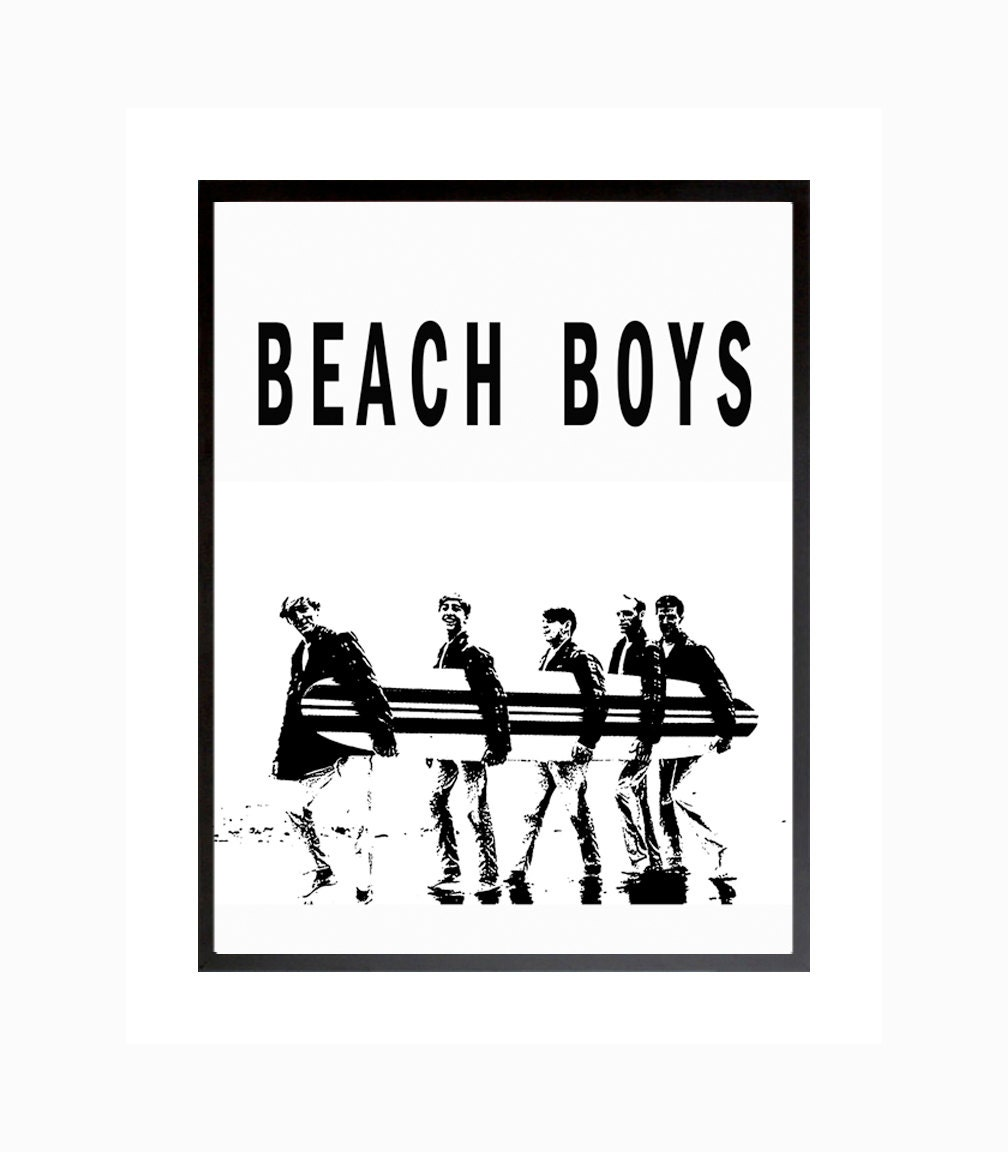 Beach Boys Poster Surfer Girl Print Rock California Beach