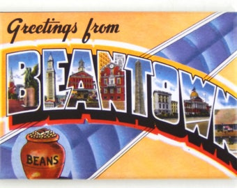 Greetings from Beantown Fridge Magnet