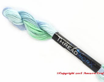 Variegated Embroidery Floss ThreadworX 1054 Pacific Islands