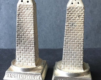 Vintage Washington Monument Salt and Pepper Shakers