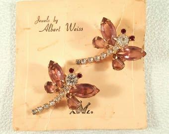 Albert Weiss Scatter Dragonfly Pins on original card