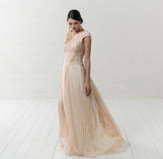 Strand Hochzeit Seidenkleid Filz Hochzeitskleid Boho