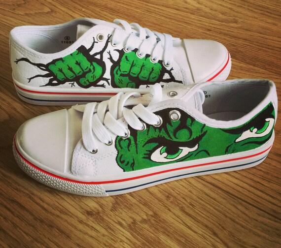 Used Work Vans >> Incredible Hulk Shoes Marvel Custom Shoes Custom Converse