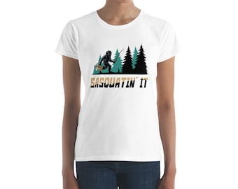 Sasquatch, Fishing, Cryptic, Bigfoot, Camping Shirt, Mythical Creatures, Graphic Tee, Funny T Shirt, Trending Now, Yeti, Sasquatch Shirt